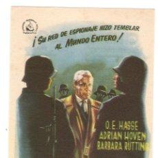 Cine: EL ALMIRANTE CANARIS - O. E. HASSE, ADRIAN HOVEN, BARBARA RÜTTING - DIRECTOR ALFRED WEIDENMANN. Lote 135251950