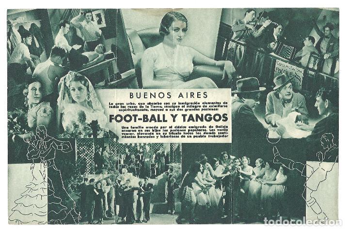 Cine: PTEB 026 FOOT BALL Y TANGOS PROGRAMA DOBLE RENACIMIENTO FILMS futbol - Foto 2 - 135333366