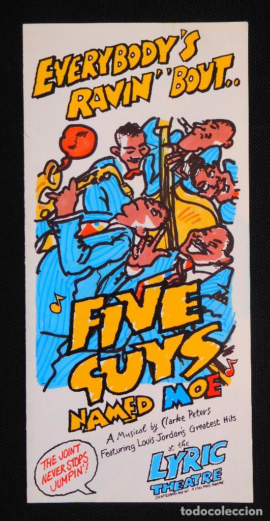FOLLETO - FLYER OBRA FIVE GUYS NAMED MOE LONDRES 1990 BY CLARKE PETERS - LYRIC THEATRE (Cine - Folletos de Mano - Musicales)
