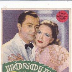 Cine: HONOLULÚ CON ELEANOR POWELL, ROBERT YOUNG AÑO 1945 EN CINEMAS LA RAMBLA Y PRINCIPAL. Lote 135395550