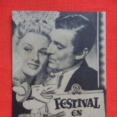 Cine: FESTIVAL EN MEJICO, IMPECABLE DOBLE ORIGINAL, WALTER PIDGEON, SIN PUBLICIDAD. Lote 135604150
