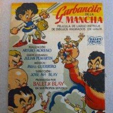 Cine: FOLLETO PROGRAMA CINE PELÍCULA GARBANCITO DE LA MANCHA. AÑO 1946. SISTEMA DUFAYCOLOR. CINE PRINCESA. Lote 135626122