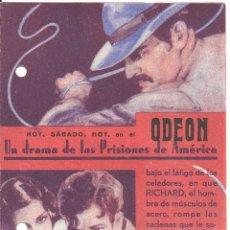 Cine: PTEB 031 LA CARRETERA DEL INFIERNO PROGRAMA DOBLE RKO RICHARD DIX ROCHELLE HUDSON. Lote 135644299