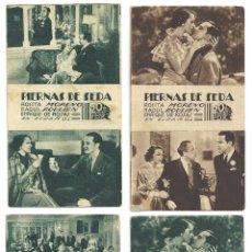 Cine: PTCC 023 PIERNAS DE SEDA SET 4 PROGRAMAS TARJETA FOX ROSITA MORENO RAOUL ROULIEN. Lote 135680143
