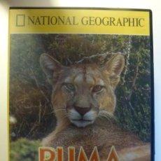 Cine: PUMA. EL LEÓN DE LOS ANDES. DVD NATIONAL GEOGRAPHIC.. Lote 135681879