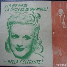 Cine: ARDID FEMENINO 1940 GINGER ROGERS Y JAMES STEWART RKO RADIO PUBLICIDAD CINE ESPAÑA SE LE NOTA USO. Lote 135685127