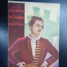 Cine: EL BARON GITANO.-ADOLF WOHLBRUCK. GINA FALCKENBERG. 1940 ALIANZA CINEMATOGRAFICA ESPAÑOLA DOBLE PUBL. Lote 135700779