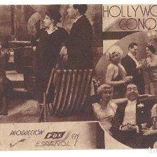 Cine: PTEB 034 HOLLYWOOD CONQUISTADO PROGRAMA TARJETA FOX SPENCER TRACY JOHN BOLES C. Lote 135710535