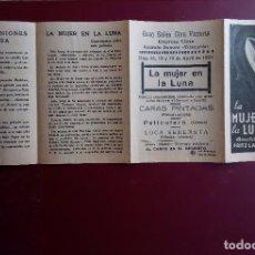 Cine: LA MUJER EN LA LUNA 1929 MUDA FRITZ LANG FOLLETO ORIGINAL. Lote 135718947