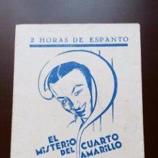 Cine: EL MISTERIO DEL CUARTO AMARILLO 1930 FOLLETO ORIGINAL. Lote 135723639