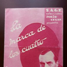 Cine: LA MARCA DE LOS CUATRO 1932 SHERLOCK HOLMES FOLLETO ORIGINAL. Lote 135724447
