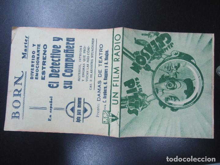 Cine: EL DETECTIVE Y SU COMPAÑERA - OWEN DAVIS Y LOUISE LATIMER DOBLE RKO RADIO FILMS - BORN BIEN CONSER - Foto 3 - 135779870