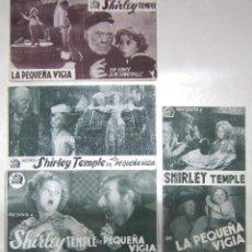 Cine: PTEB 035 LA PEQUEÑA VIGIA SET 4 PROGRAMAS TARJETA 20TH CENTURY FOX SHIRLEY TEMPLE GUY KIBBEE. Lote 135785458