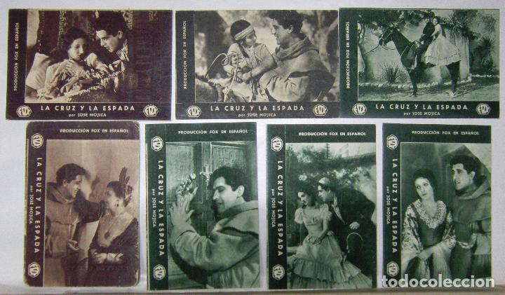 PTEB 036 LA CRUZ Y LA ESPADA SET 7 PROGRAMAS TARJETA FOX JOSE MOJICA ANITA CAMPILLO (Cine - Folletos de Mano - Musicales)