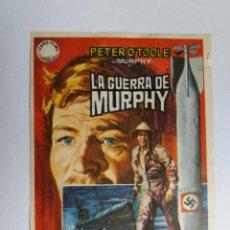 Cine: FOLLETO DE MANO - LA GUERRA DE MURPHY - PETER O´TOOLE - PHILIPPE NOIRET. Lote 135914694