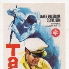 Cine: TABÚ. JAMES PHILBROOK, SEYNA SEIN... AÑO 1966.. Lote 136136910