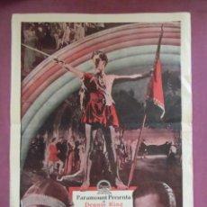 Cine: CINE.EL REY VAGABUNDO.TEATRO KURSAAL DE ELCHE. AÑOS 20.RARO.. Lote 136148942