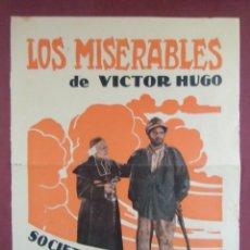 Cine: CINE. LOS MISETABLES.TEATRO KURSAAL DE ELCHE. 1929.RARO.. Lote 136150402