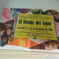 Cine: EL DESFILE DEL AMOR 1930. Lote 136177184