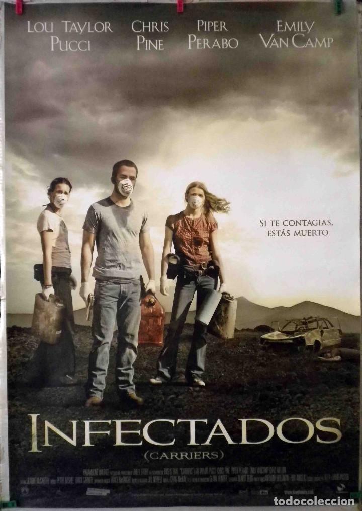 ORIGINALES DE CINE: INFECTADOS (CARRIERS) ALEX & DAVID PASTOR (CHRIS PINE, PIPER PERABO, LOU TAYLOR) (Cine - Folletos de Mano - Terror)