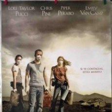 Cine: ORIGINALES DE CINE: INFECTADOS (CARRIERS) ALEX & DAVID PASTOR (CHRIS PINE, PIPER PERABO, LOU TAYLOR). Lote 136200782