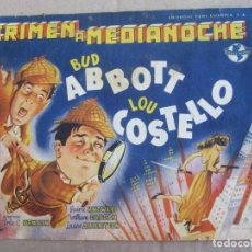 Cine: CRIMEN A MEDIA NOCHE , BUD ABBOTT , LOU COSTELLO ,. Lote 136308442