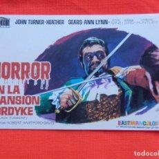 Cine: HORROR EN LA MANSION FORDYKE, IMPECABLE SENCILLO, JOHN TURNER, CON SELLO CINE AVENIDA VILLENA. Lote 136495826