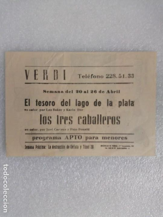 Cine: Programa cine verdi barcelona los tres caballeros walt disney donald etc... - Foto 2 - 136554018