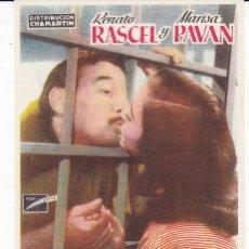 Cine: AMOR Y LIBERTAD CON RENATO RASCEL, MARISA PAVAN AÑO 1954 EN CINEMAS PRINCIPAL Y LA RAMBLA. Lote 136667654