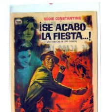 Cine: CINE PROGRAMA TEATRO PRINCIPAL ALICANTE SE ACABO LA FIESTA, 1966. Lote 136708758