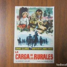 Cine: PROGRAMA DE CINE FOLLETO DE MANO-LA CARGA DE LOS RURALES-AÑOS 50 SIN PUBLICIDAD. Lote 136879650