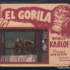Cine: P-5305- EL GORILA (THE APE) (BORIS KARLOFF - MARIS WRIXON - GENE O'DONNELL). Lote 137179954