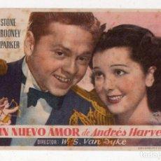 Cine: UN NUEVO AMOR DE ANDRÉS HARVEY. LEWIS STONE, MICKEY ROONEY, CECILIA PARKER.... Lote 137181602
