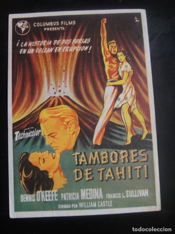 TAMBORES DE TAHITI - CINE GOYA , ZARAGOZA (Cine - Folletos de Mano - Acción)