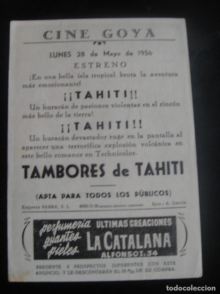 Cine: tambores de tahiti - cine goya , zaragoza - Foto 2 - 137187446
