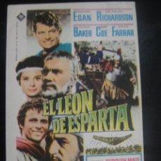 Cine: EL LEON DE ESPARTA - SIN PUBLICIDAD. Lote 137187538