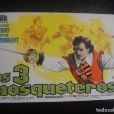 Cine: LOS TRES MOSQUETEROS - SIN PUBLICIDAD. Lote 137195206