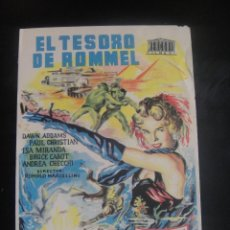 Cine: EL TESORO DE ROMMEL - CINE HERMANDAD ARTURO MUNDET , SAN ANTONIO DE CALONGE. Lote 137197142