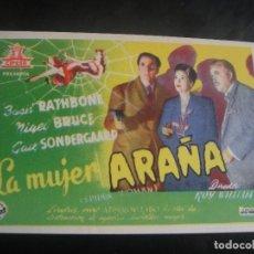 Cine: LA MUJER ARAÑA - SIN PUBLICIDAD. Lote 137198350
