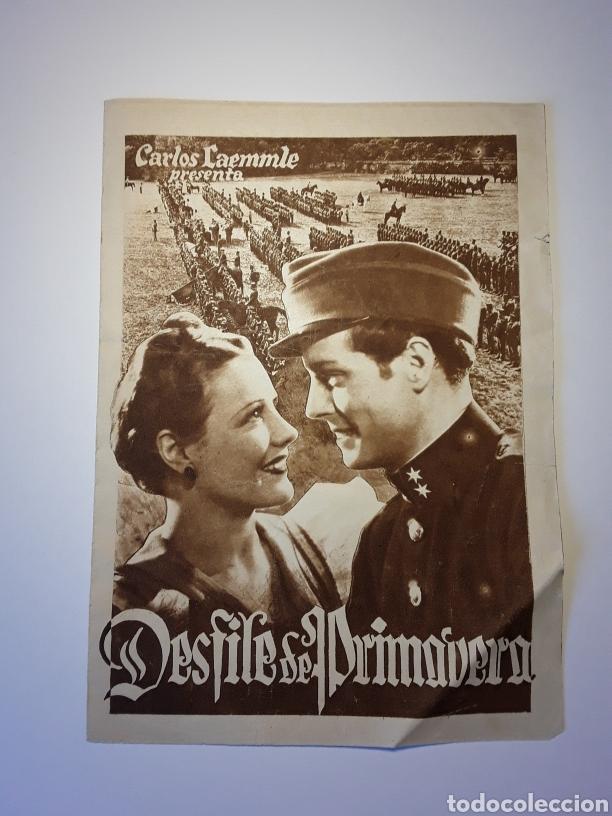 DESFILE DE PRIMAVERA (Cine - Folletos de Mano - Bélicas)