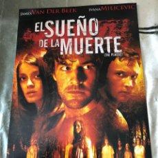 Cine: 'EL SUEÑO DE LA MUERTE'. CINE DE ZOMBIES. 2006. FOLLETO DE MANO, TAMAÑO POSTAL GRANDE.. Lote 137441278