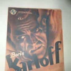 Cine: PROGRAMA DOBLE DE CINE BORIS KARLOFF ALARMA EN LA CIUDAD. Lote 137469170