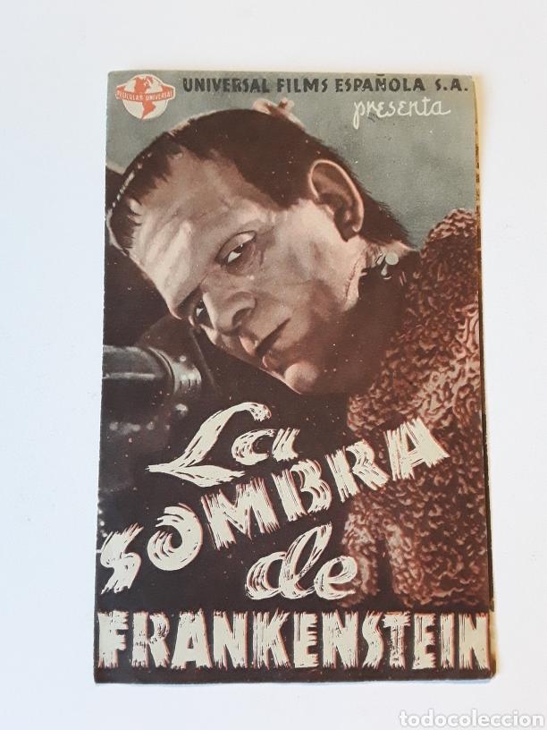 LA SOMBRA DE FRANKESTEIN (Cine - Folletos de Mano - Ciencia Ficción)