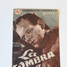 Cine: LA SOMBRA DE FRANKESTEIN. Lote 137493608