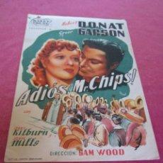 Cine: ADIÓS MR.CHIPS !. PROGRAMA SENCILLO FOLLETO DE CINE . Lote 137513030