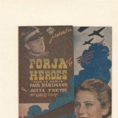 Cine: FORJA DE HEROES. PROGRAMA DE CINE DOBLE. CON PUBLICIDAD.. Lote 137607690