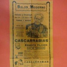 Cine: CASCARRABIAS. ERNESTO VILCHES. PROGRAMA GRAN FORMATO. SALON MODERNO.. Lote 137697346