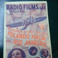 Cine: VOLANDO HACIA RIO JANEIRO 1935 LA CARIOCA DOLORES DEL RIO, RAÚL ROULIÉN, GINGER ROGERS, GENE RAYMOND. Lote 137763990