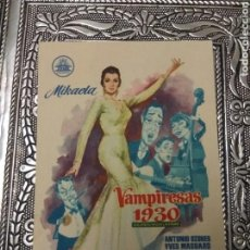 Cine: ALMERÍA SALÓN HESPERIA CINE VAMPIRESA 1930 AÑO FOLLETO MANO. Lote 137843664