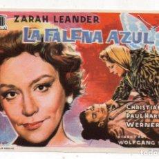 Cine: LA FALENA AZUL. AÑO 1962. ZARAH LEANDER, CHRISTIAN WOLFF, PAUL HARTMANN.... Lote 137848478